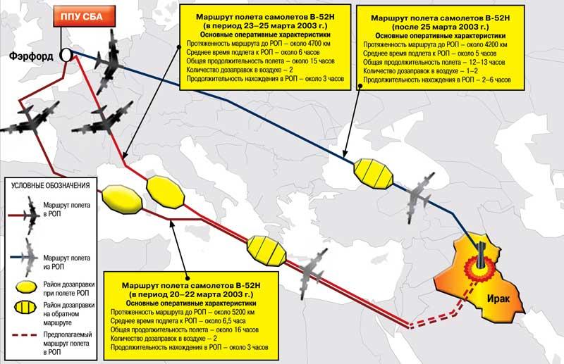 Чагос, самолеты В-52Н и В-2А),